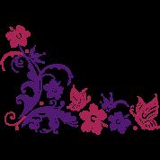 Hibiscus bloemen en vlinders hoodie spreadshirt for Mural de flores y mariposas